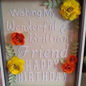 Happy Birthday Friend - Yellow & Orange