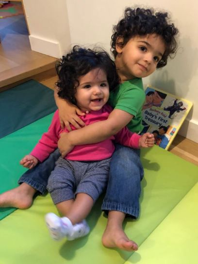 Picture of two little children that Andreas Laupacis received in an email from his friend
