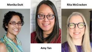 Picture of Monika Dutt, Amy Tan and Rita McCracken