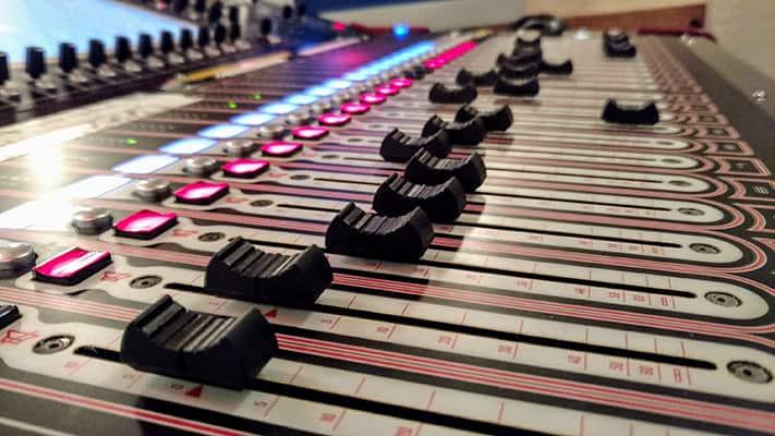 side profile image of a new sound board