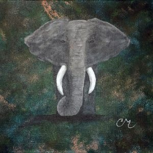 Painting-acrylic-on-canvas-nature-elephant