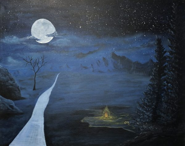 Camping-Acrylic-Painting-by-Chelsey-Marchand