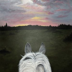 Evening-Ride-Acrylic-Painting-by-Chelsey-Marchand