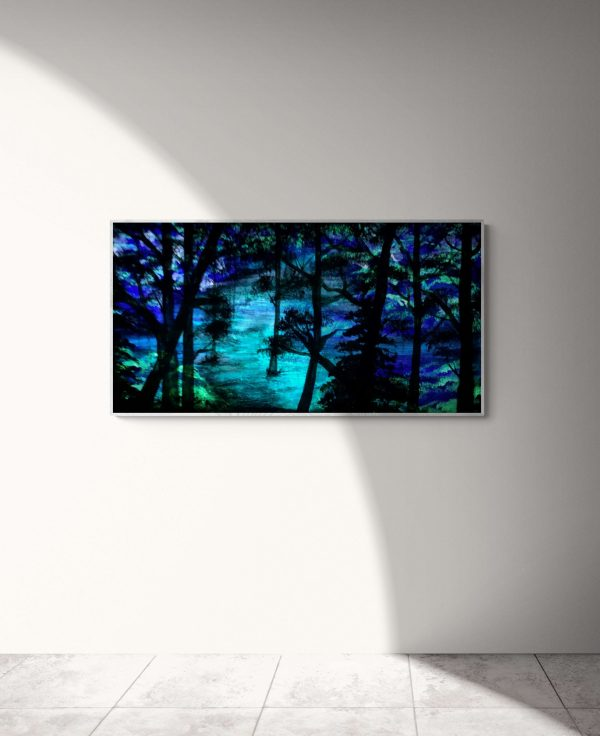 Follow-The-Light-Acrylic-Painting-by-Chelsey-Marchand