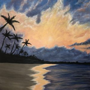 Holiday-Views-Acrylic-Painting-by-Chelsey-Marchand