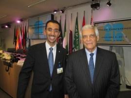 Dr. Alshammari with former OPEC Secretary General HE Abdullah Elbadri