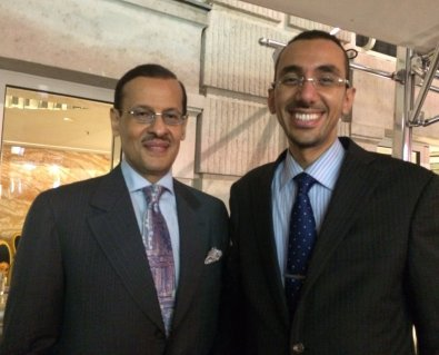 Dr. Alshammari with HRH Prince Abdulaziz ben Salman Saudi Arabia's Minister's of State for Energy Affairs