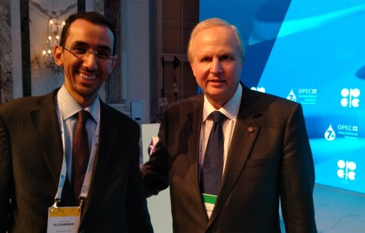 Dr Alshammari with BP CEO at OPEC Conference 2018