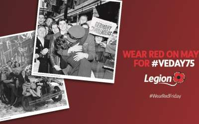 Wear Red Friday for VE Day 75