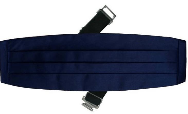Les ceintures drapées de couleur BLEU NUIT