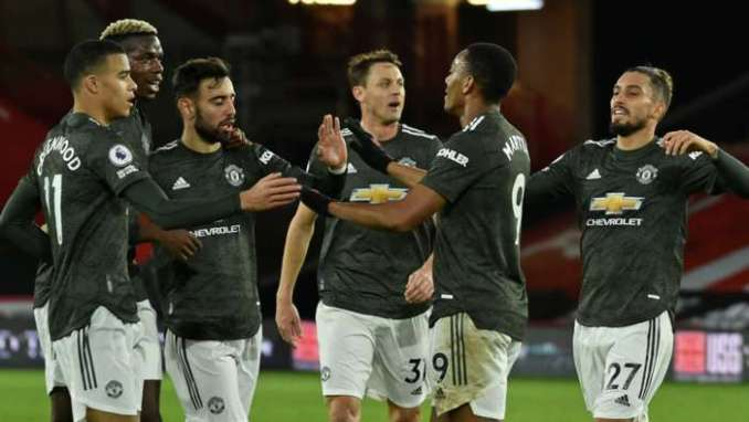 Anthony Martial Sheffield United vs Manchester United Premier League 2020-21
