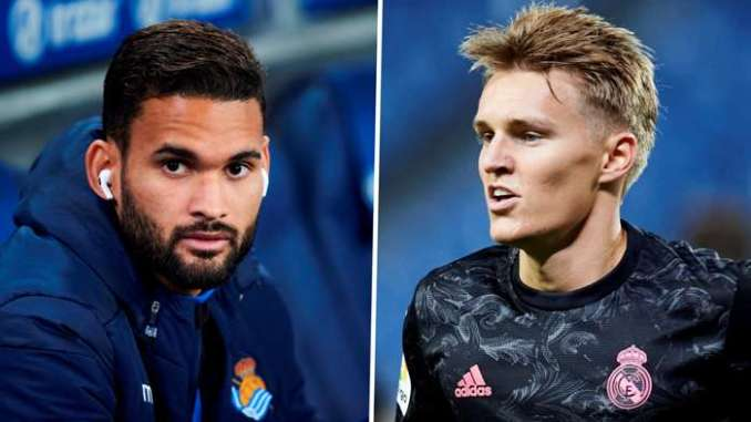 Willian Jose Real Sociedad Martin Odegaard Real Madrid
