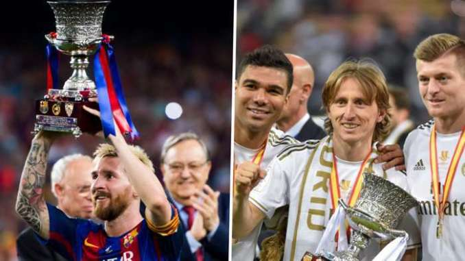 Barcelona Real Madrid Spanish Super Cup