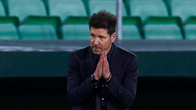 Diego Simeone has backed Atletico Madrid's decision to withdraw from the Super League