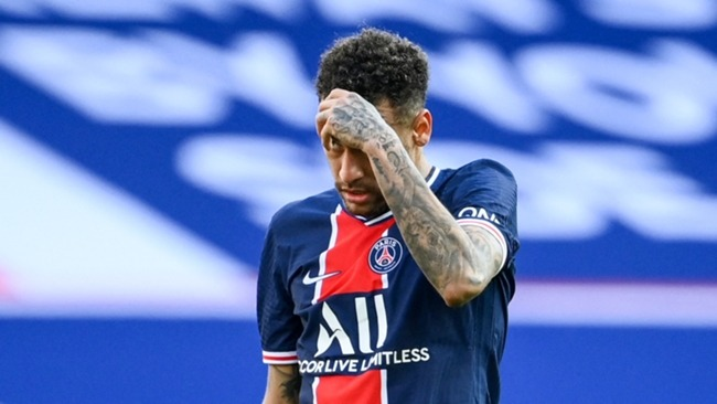Neymar was back in the PSG starting XI on Saturday but was sent off late on
