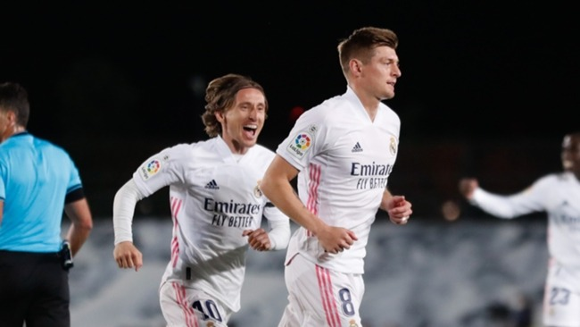 Luka Modric (L) and Toni Kroos (R) are key figures for Real Madrid