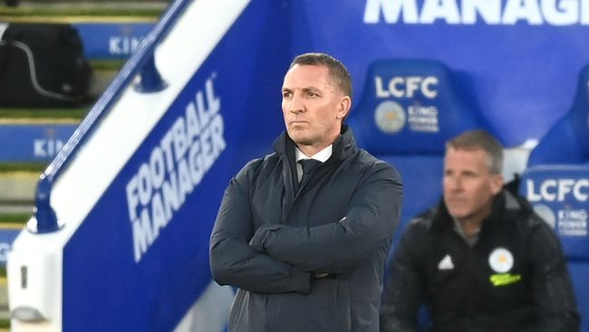 Brendan Rodgers' Leicester face Crystal Palace tonight