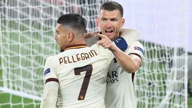 Edin Dzeko thrives playing with his back to goal, receiving passes and bringing others into play