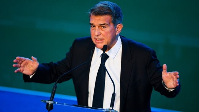 Joan Laporta made clear his plans for Barcelona at the official ceremony to start his second spell as club president.