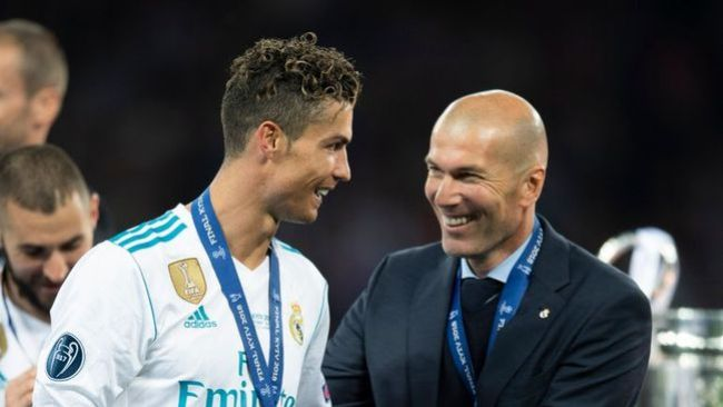 Cristiano Ronaldo's former boss at Real Madrid, Zinedine Zidane, labelled him the club's greatest ever player
