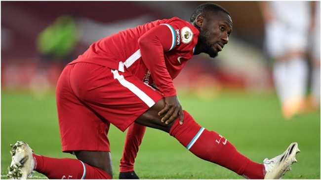 Naby Keita has had injury issues since arriving at Anfield from RB Leipzig.