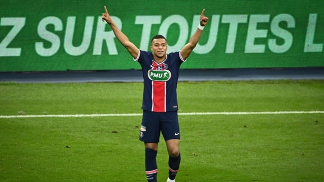 Kylian Mbappe scored one and set up another in the Coupe de France final