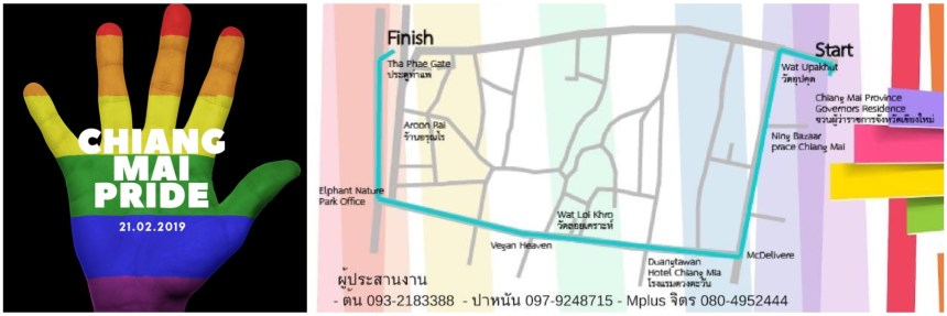 Chiang Mai Pride 2019 - Map Montage