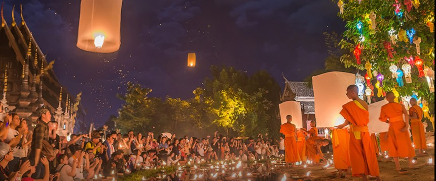Loy Kratong 2018 - Wat Pan Tao Photo วัดพันเตา Wat Pan Tao recadrée (cover FB)