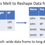 Pandas melt to reshape dataframe