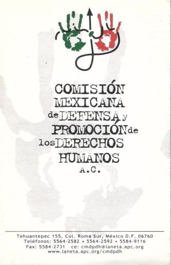 CMDPDH - Folleto de Presentación - Archivo histórico