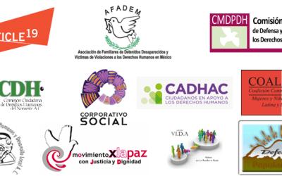 Organizaciones exigen que la designación del nuevo pleno de la CEAV sea público, transparente y acorde con la Ley General de Víctimas