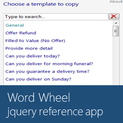 jQuery Reference App