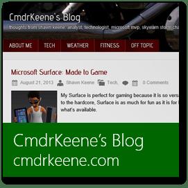 CmdrKeene's Blog