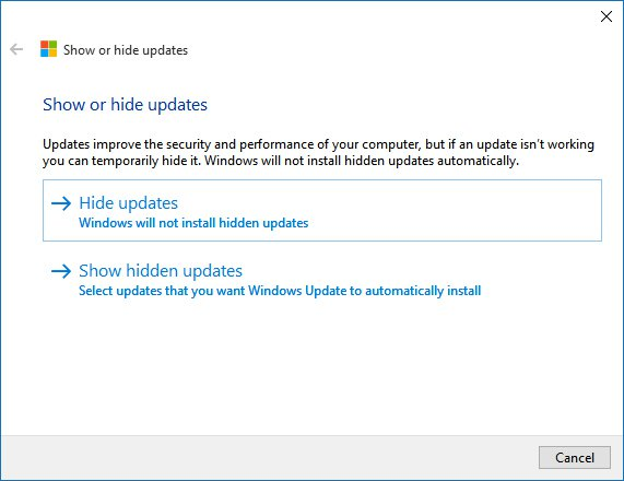 How to Hide an Update in Windows 10