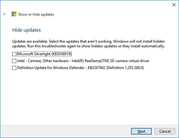 Block Unwanted Updates in Windows 10