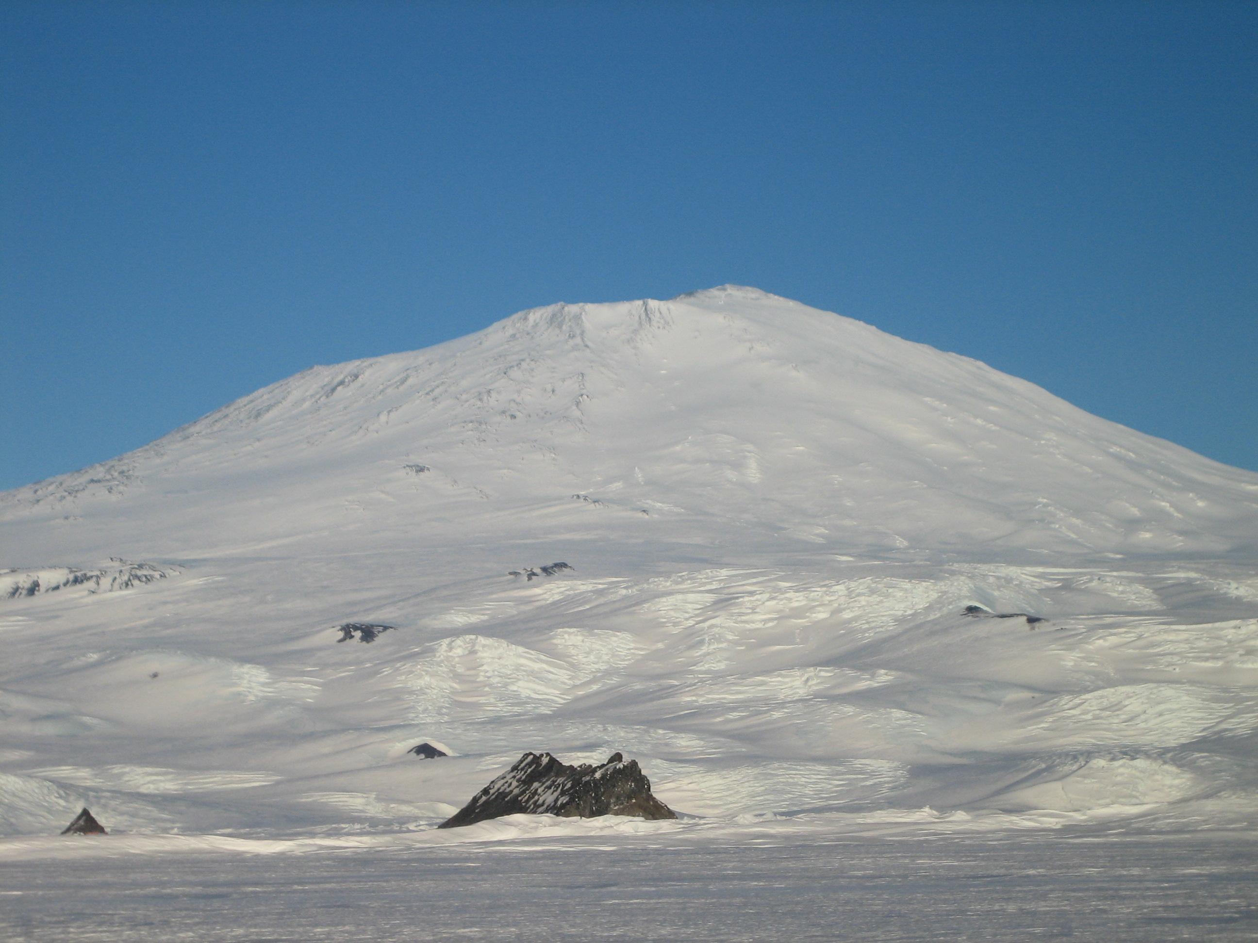 Mt Erebus, Antarctic summer.