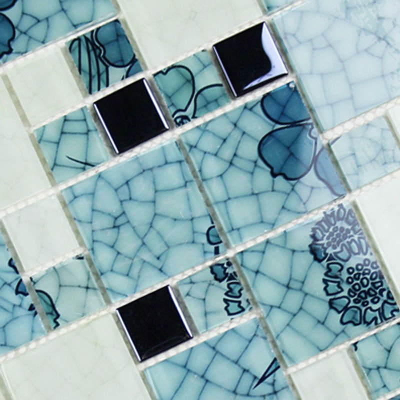 Glass-tile-blue-and-white-wallpaper-mosaic-electroplated