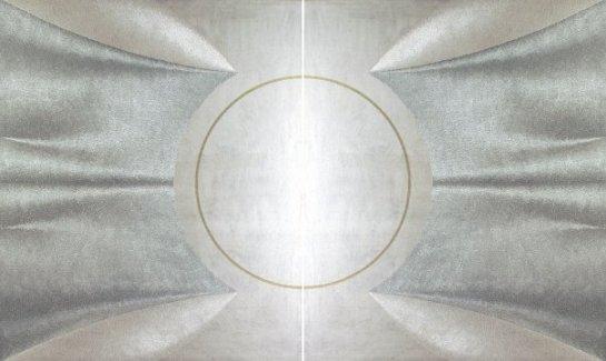Gaia - acrilico injection painting su tela - 2007 - 110x180 cm.