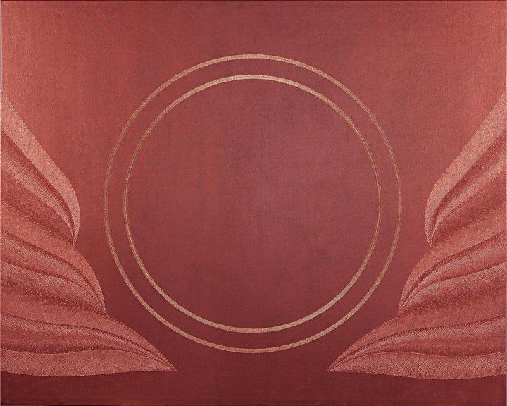 Maternità: acrilico injection painting su tela 2010 - 100x80cm