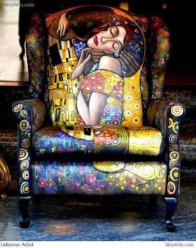 by The life I dream of újabb fotelt találtam, Klimt inspiráció