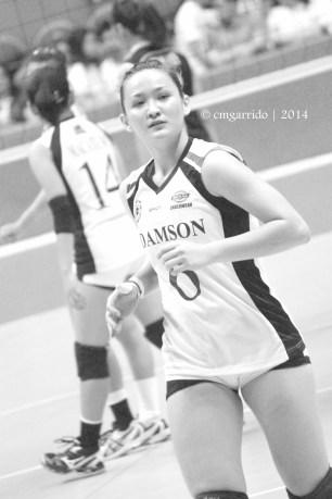 Amanda Villanueva, is the other half of the champion team of UAAP 76 Women's Beach Volleyball