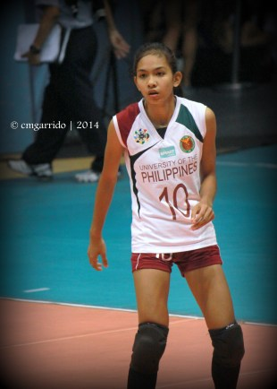 Nicole Tiamzon was a spiker before she was converted into a setter for the Lady Maroons
