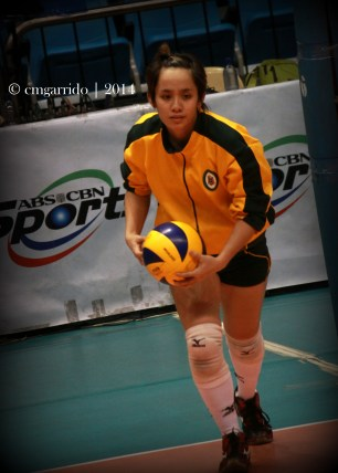 Lady Tamaraws team captain and main setter, Gyzelle Sy