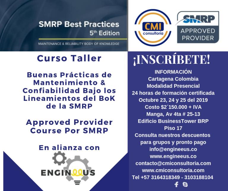 Curso SMRP Buenas Prácticas de Mantenimiento & Confiabilidad Cartagena
