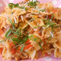 "Pulled from Pinterest - Saucy Italian ""Drunken"" Noodles"