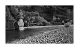 Rock in the Alcanadre river