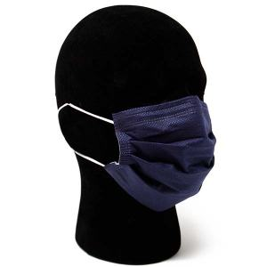 Navy Blue Protective Disposable Mask With Earloops