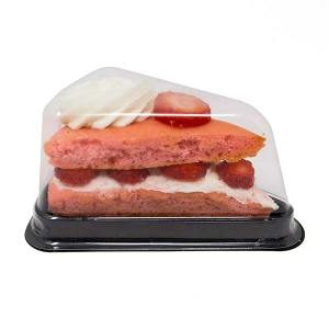 Cake Slice Individual To Go Tray With Lid Bakery