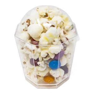 Unique Mini Disposable Cup Caramel Corn With Lid Transparent