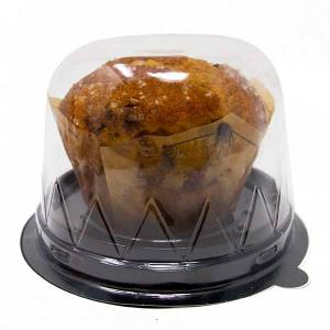 Round Black Bakery To Go Cake Tray With Lid Muffin